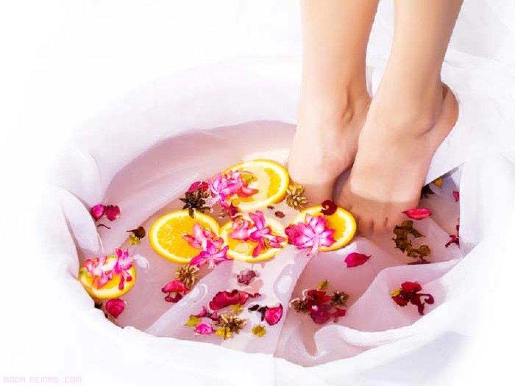 baños de sal para los pies