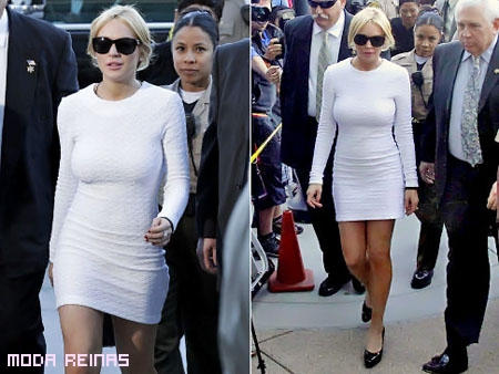 Famoso vestido blanco de Lindsay Lohan