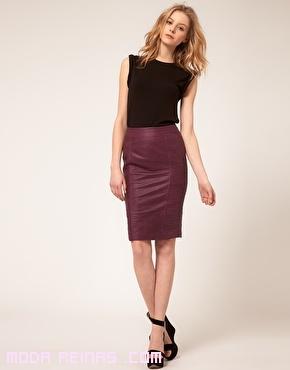 combinar faldas de cuero