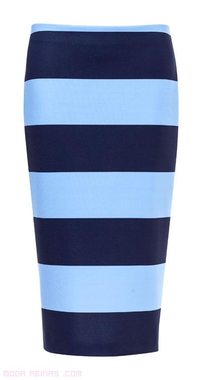 faldas de tubo en azul