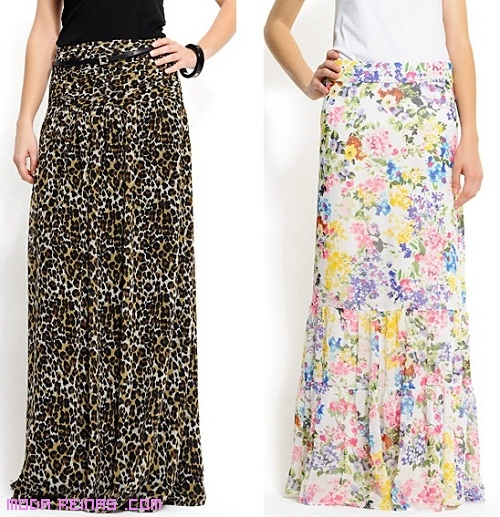 Faldas largas para el verano