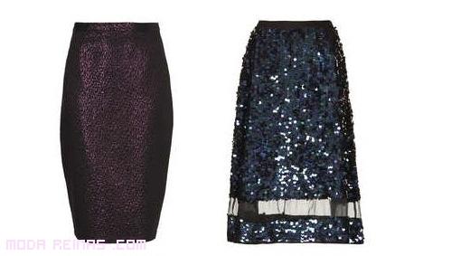 faldas con brillos