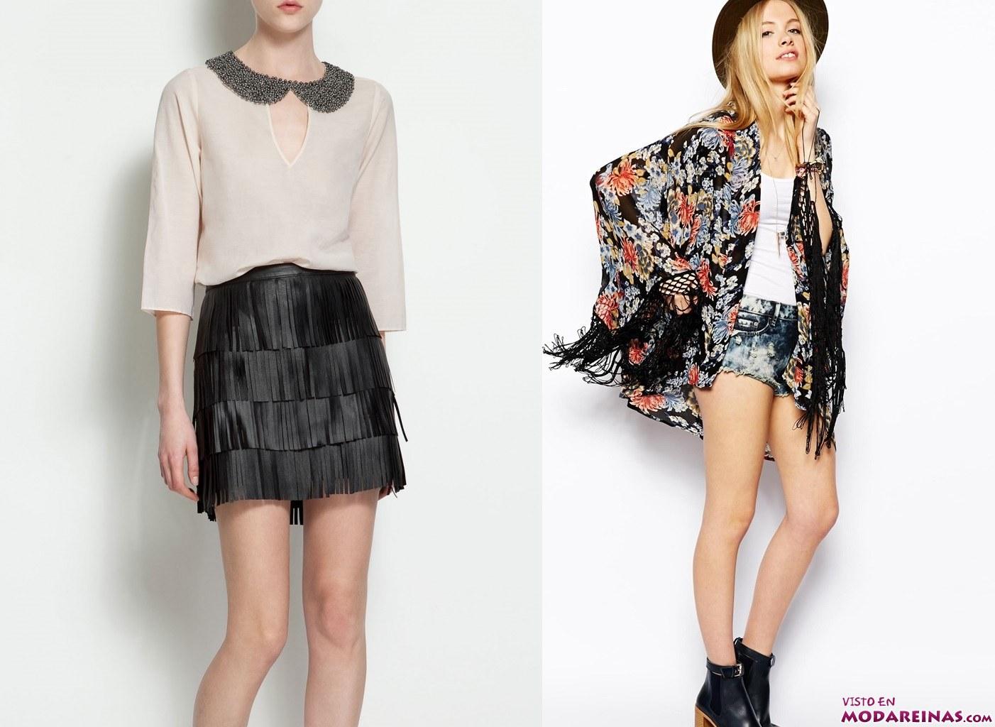 faldas y kimonos con flecos