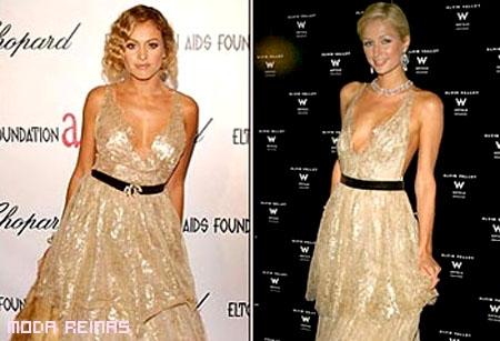 Famosas vestidas iguales