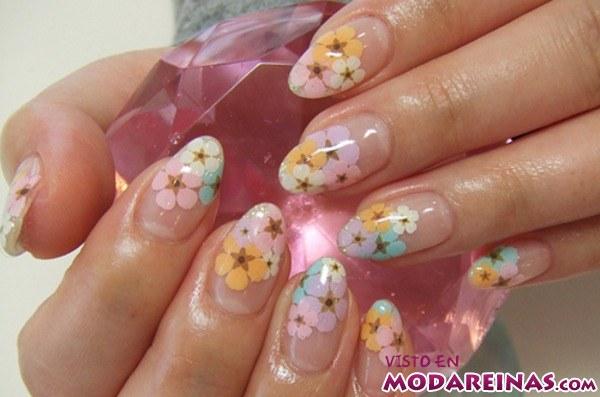 flores para manicura