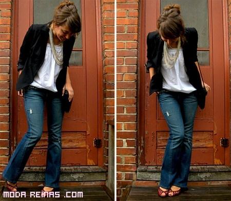 Combinar jeans de mujer