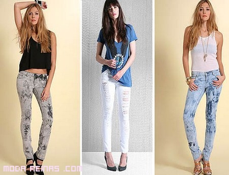 Jeans rotos o desgastados, pero siempre de moda