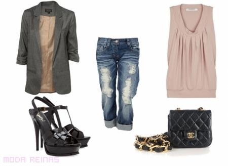 Cómo combinar los jeans rasgados