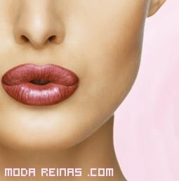 Barra de labios marrones