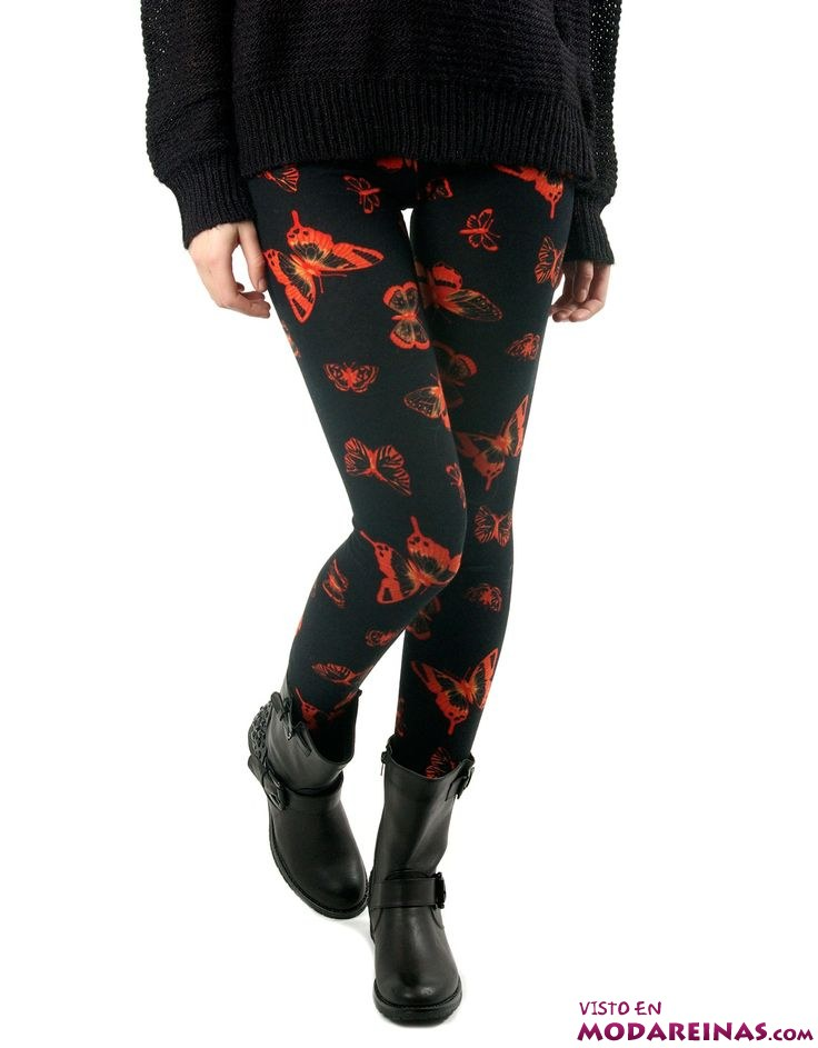 leggings estampados de mariposas