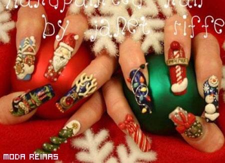 manicure-navideno