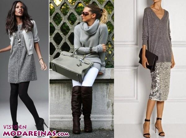 El color gris también en la moda de esta temporada