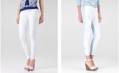 Pantalones blancos y azules