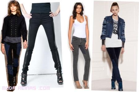 moda jeans con zapatos de tacón