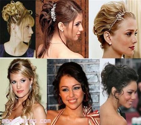 Peinados para graduación 2012