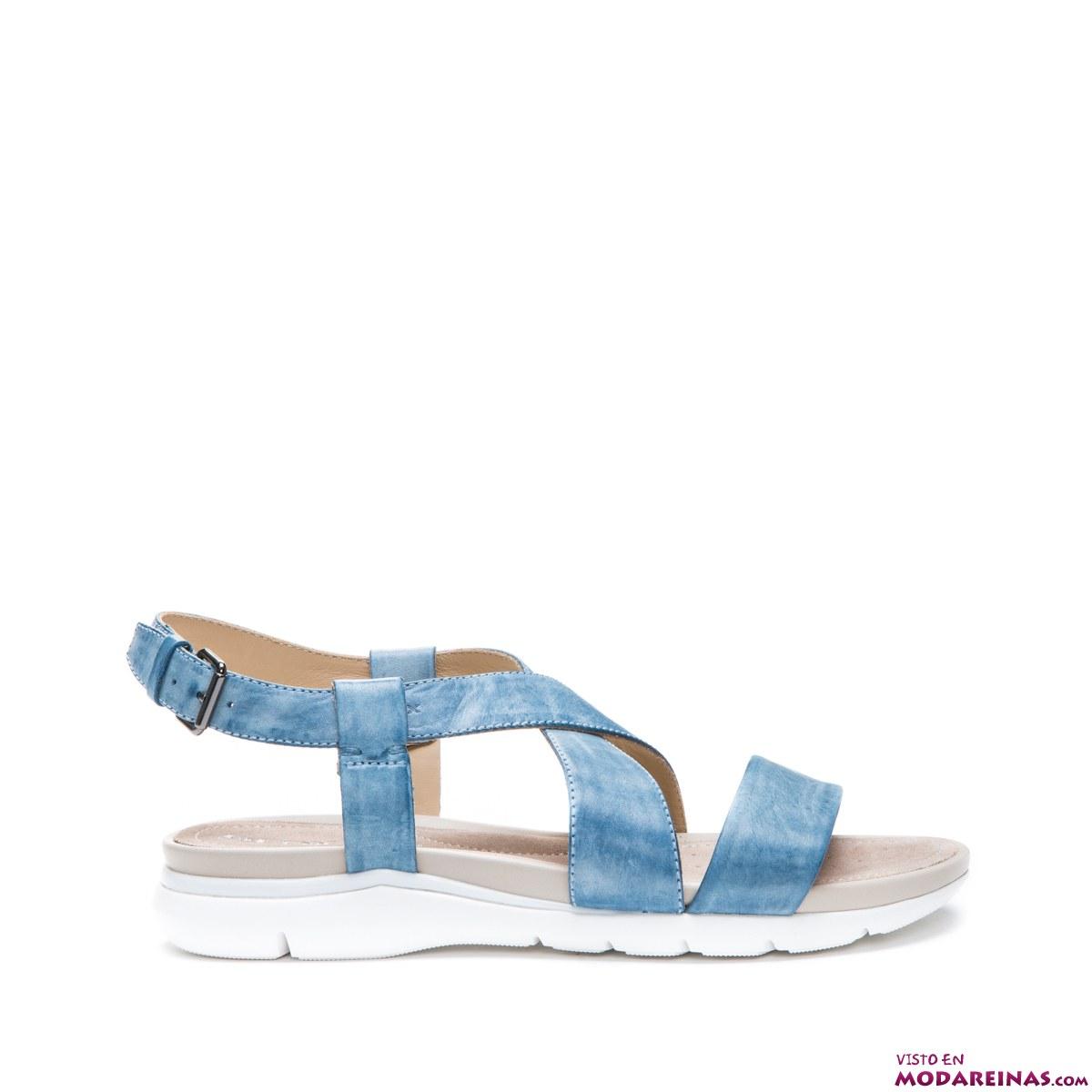 sandalias azules Geox