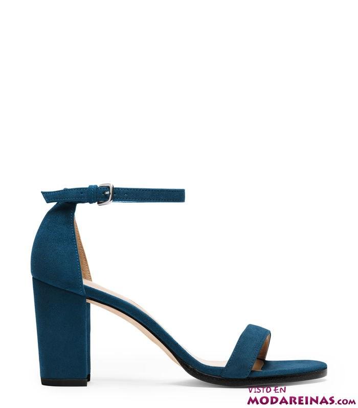 sandalias con tacón bajo en colores