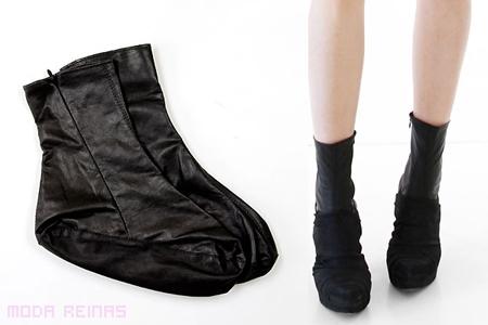 Calentar pies en invierno: calcetas de cuero