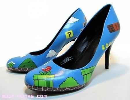 Tacones inspirados en Mario Bros