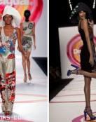 La pasarela de moda se llena de color
