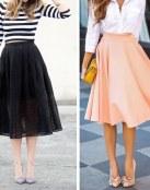 Las faldas evasé de esta temporada primaveral