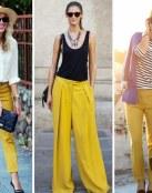Ideas para combinar pantalones amarillos