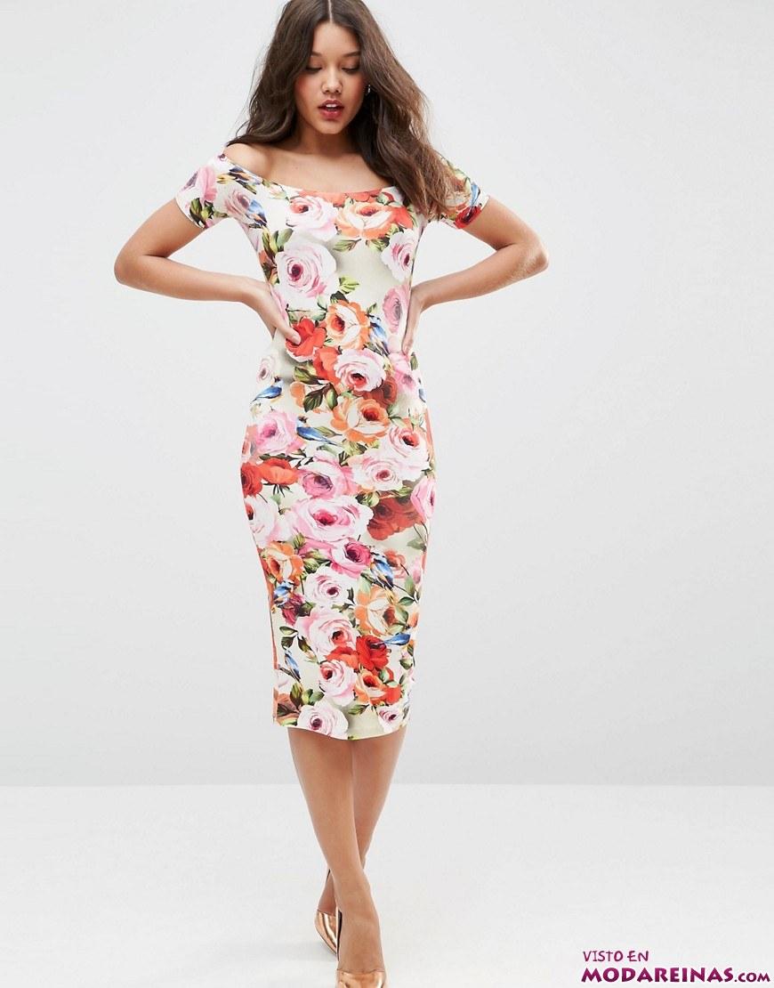 vestido asos floral