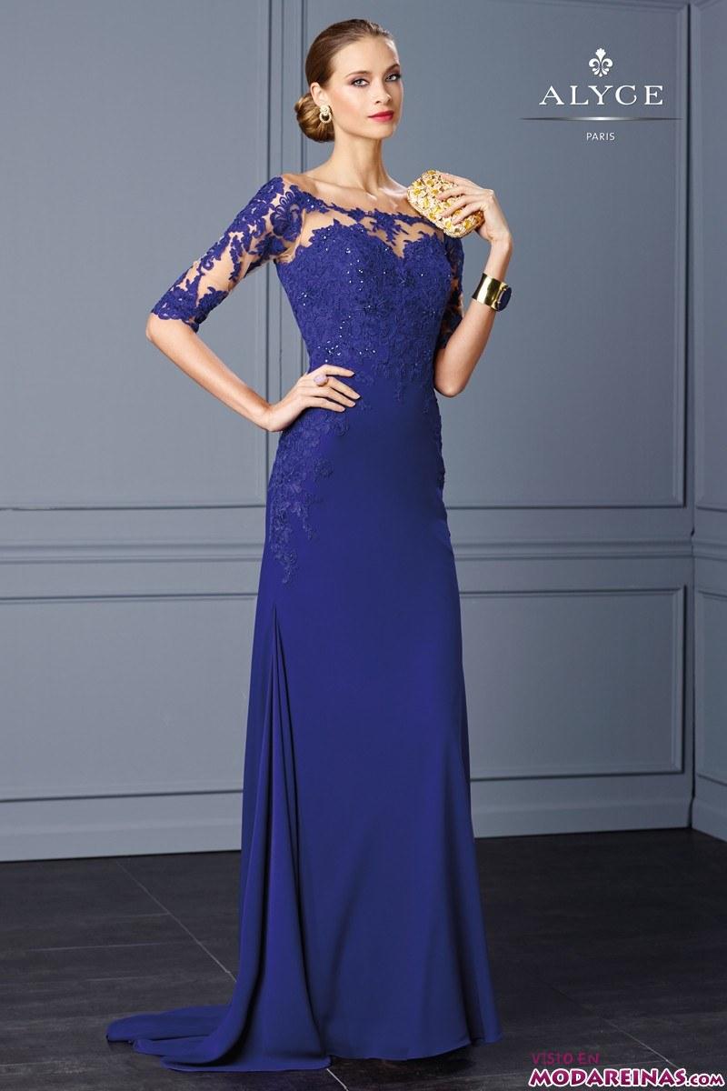 vestido azul alyce paris