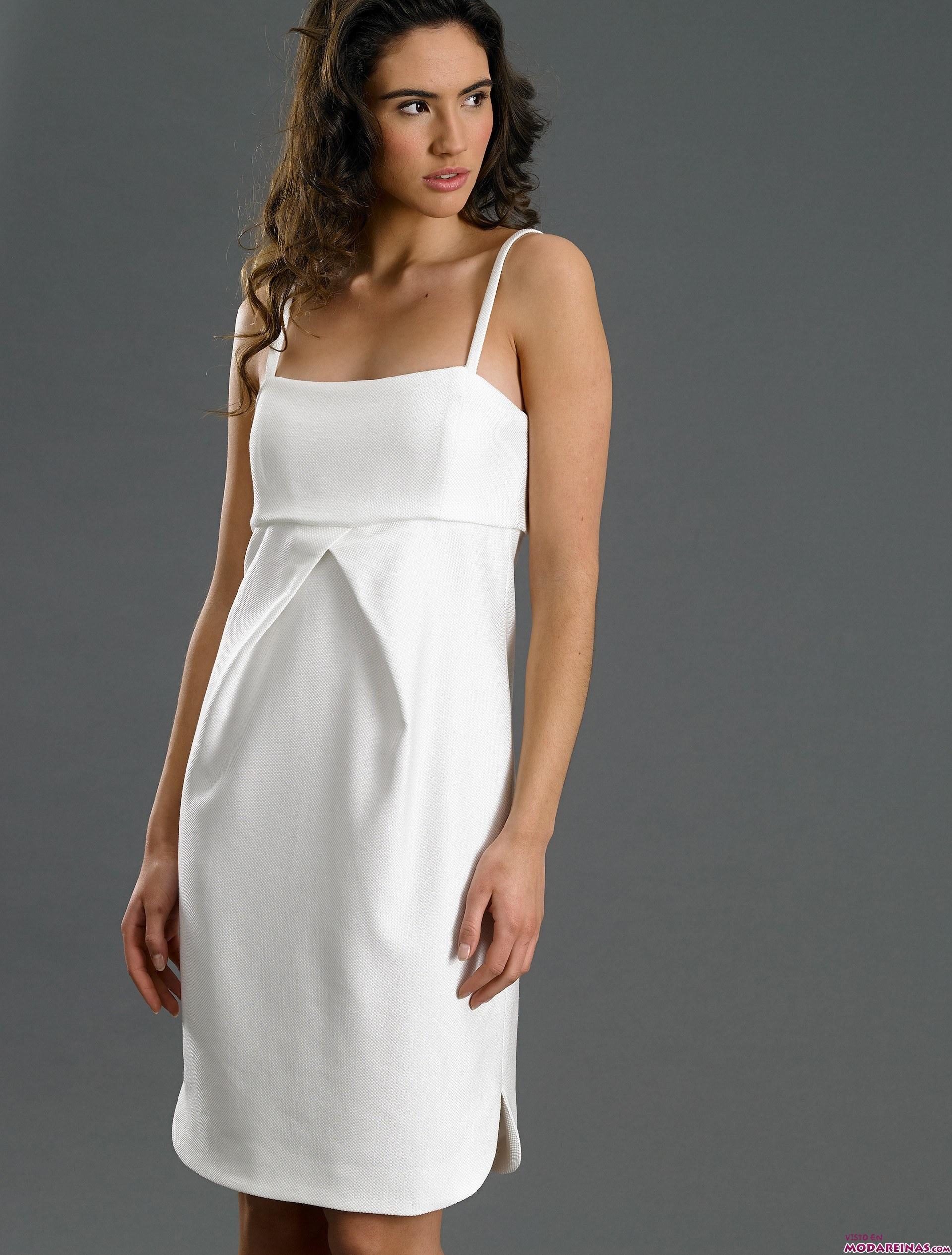 vestido blanco de caramelo