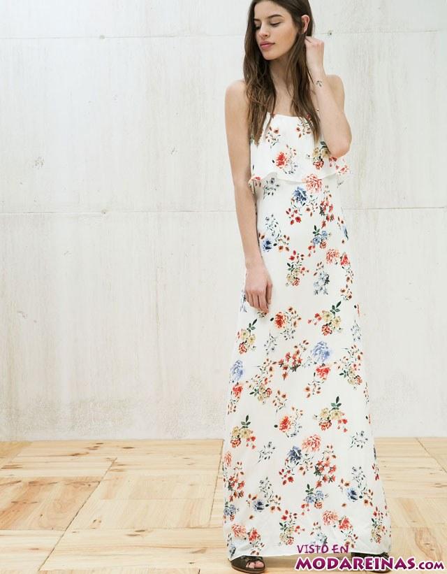 vestido blanco estampado de flores