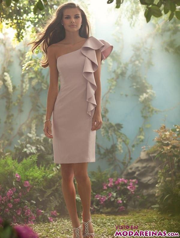 vestido corto de fiesta por alfred angelo