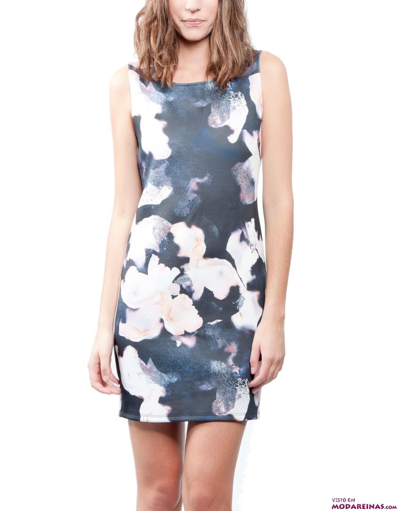 vestido corto de flores Shana