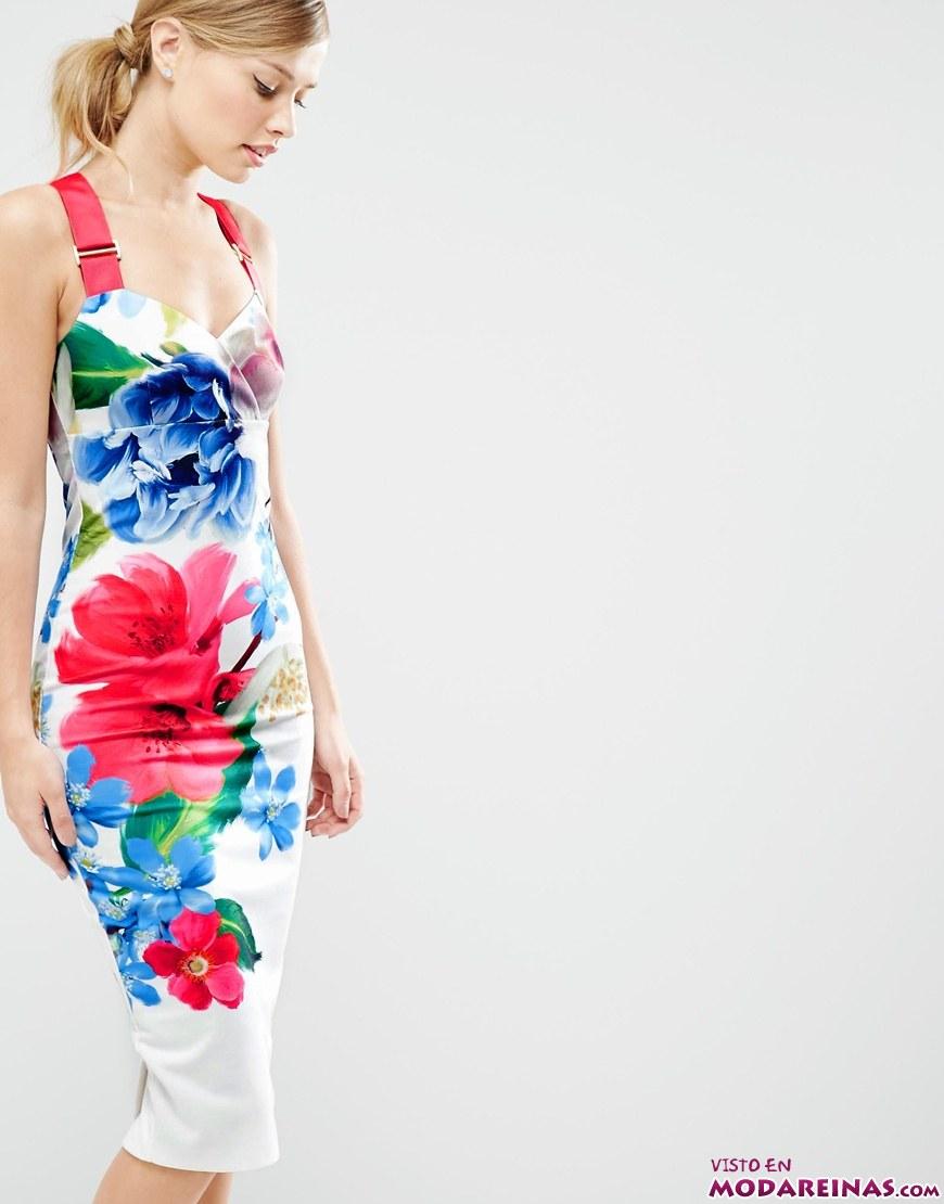 vestido corto en colores llamativos
