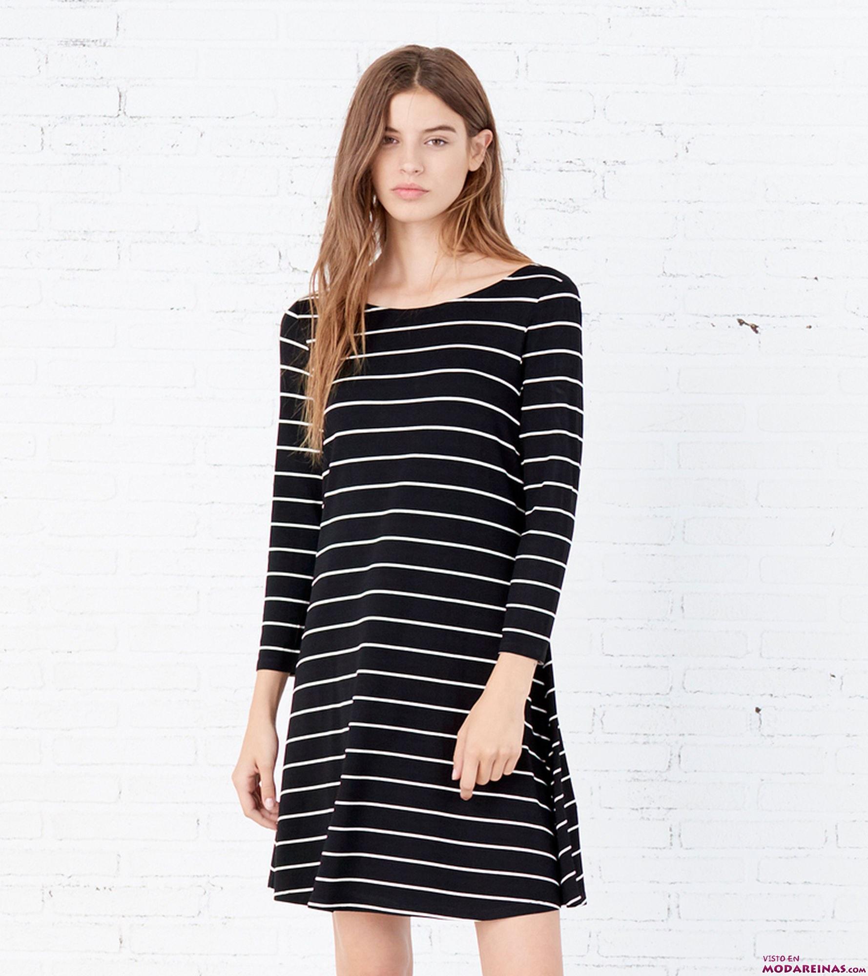 vestido corto negro estampado