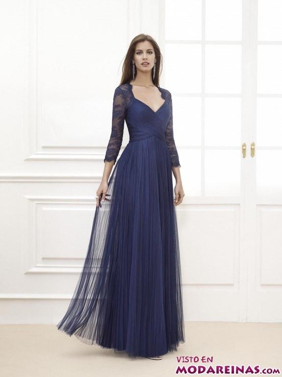 vestido de fiesta azul marino fiesta