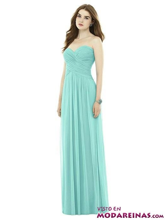 vestido de gasa en azul