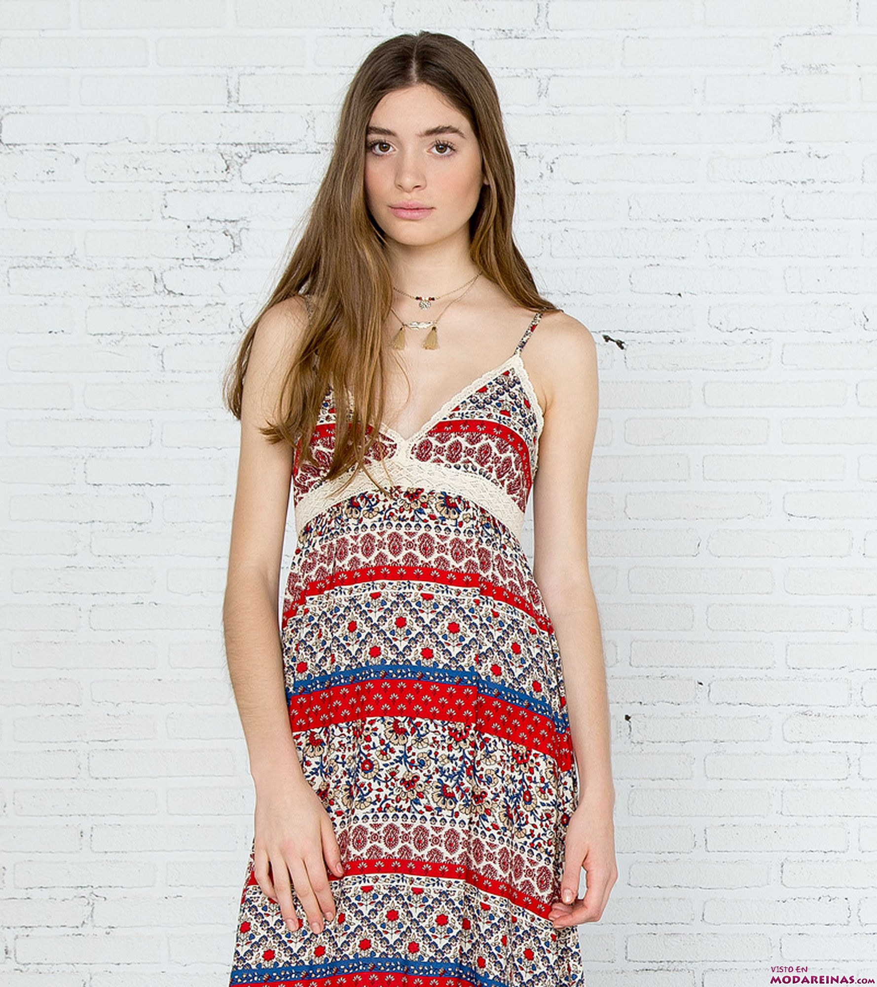 vestido de tirantes étnico