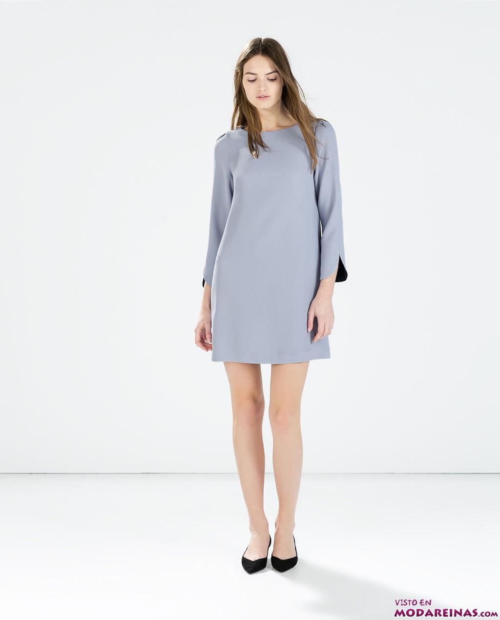 vestido escote caja de zara
