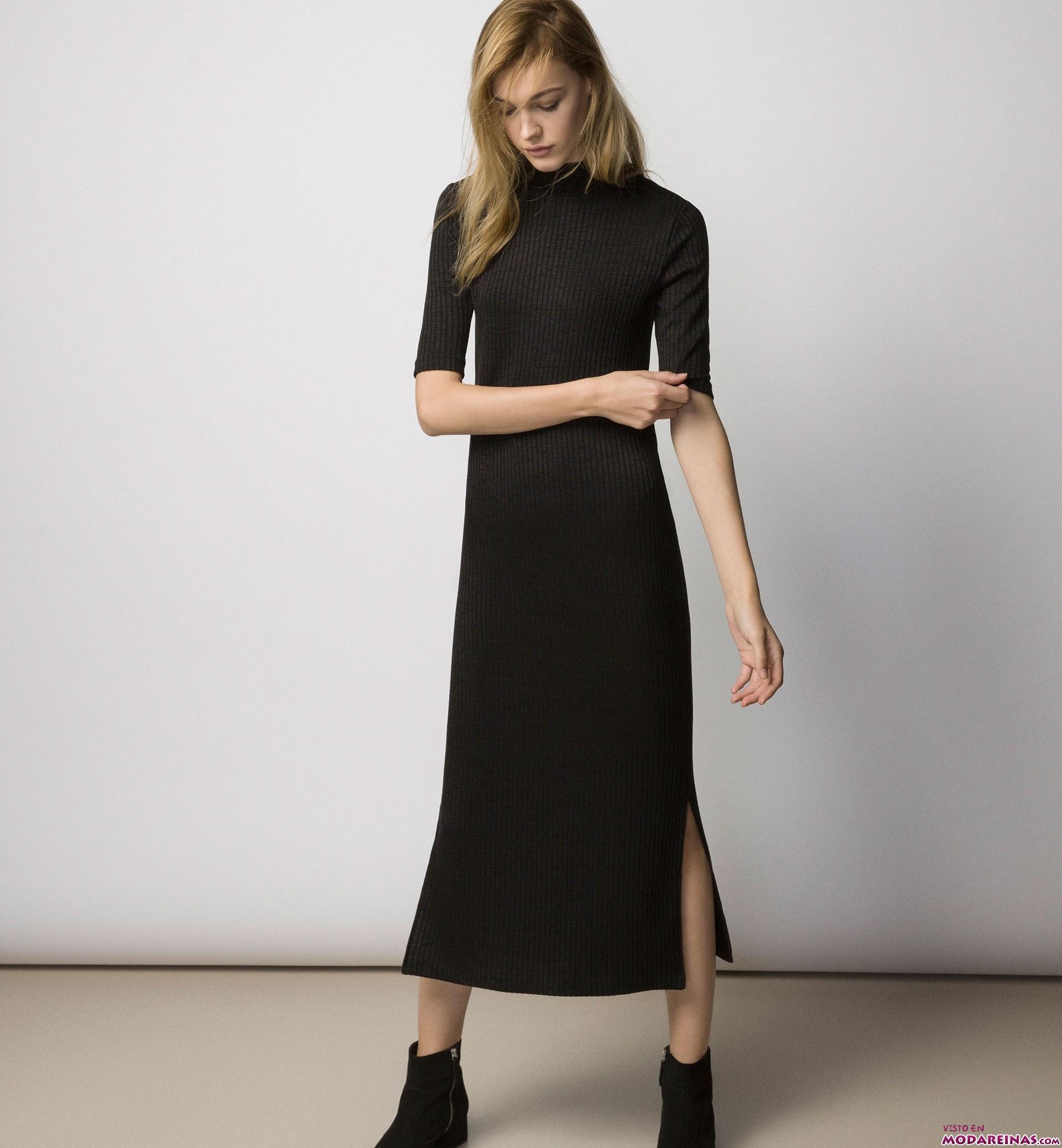 vestido largo de canalé