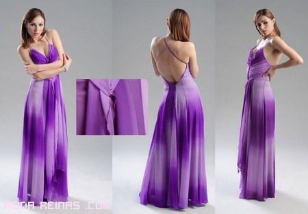colores morados degradados para vestidos de fiesta