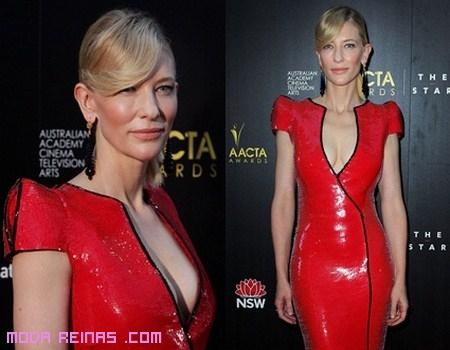 Vestido rojo de Cate Blanchett