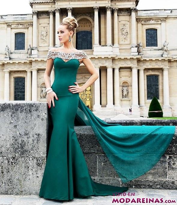 vestido verde tarik ediz