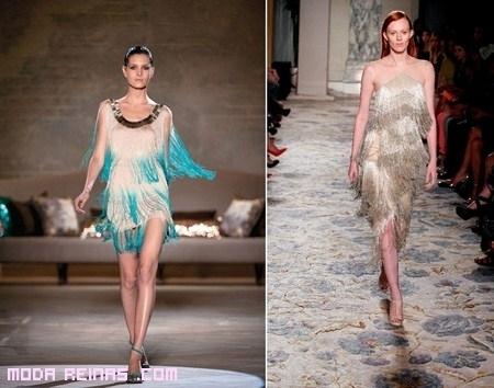 Vestidos con flecos a la moda