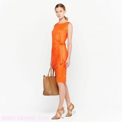 Zapatos para vestido de fiesta naranja
