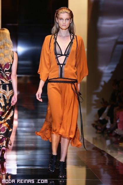 vestidos en color naranja