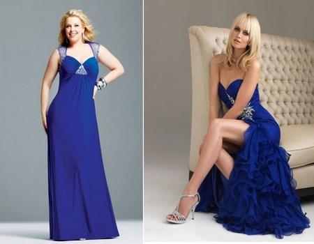 Vestidos para fiesta color azul rey