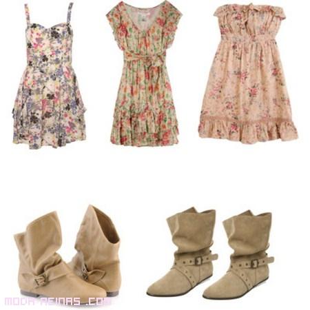 vestidos combinados con botas