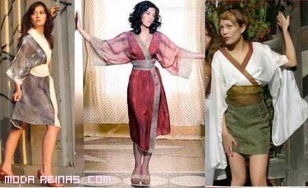 Moda Oriental: vestidos estilo Kimono