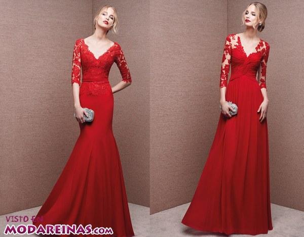 Vestidos de fiesta en rojo por La Sposa