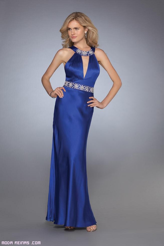 Maquillaje de noche para vestido azul claro